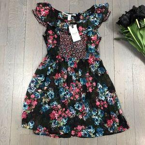 NWT American Rag CIE Floral Print Sheer Mini Dress